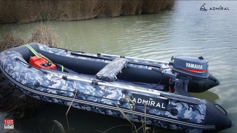 Какая скорость Лодка Адмирал 320 НДНД мотор Yamaha 5 CMHS 2х тактный