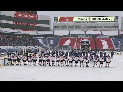 Outdoor Game HD 2018 IIHF World Junior Championship USA vs Canada Full Game