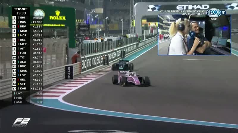 GP2 2018. Round12. Abu Dhabi. Race1