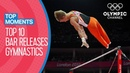 Top 10 Gymnastics Horizontal Bar Releases at Olympic Games |Top Moments