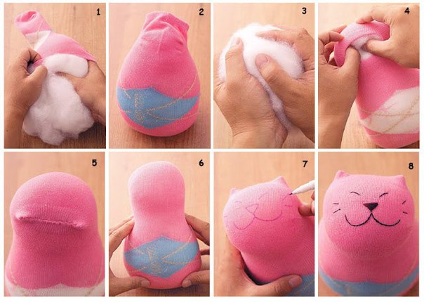 Очередная простая и красивая игрушка из носка… (1 фото) - картинка