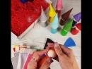 Цветные гномики с шапочками и кроватками