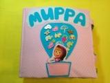развивающая книжка из ткани и фетра для девочки Мирры