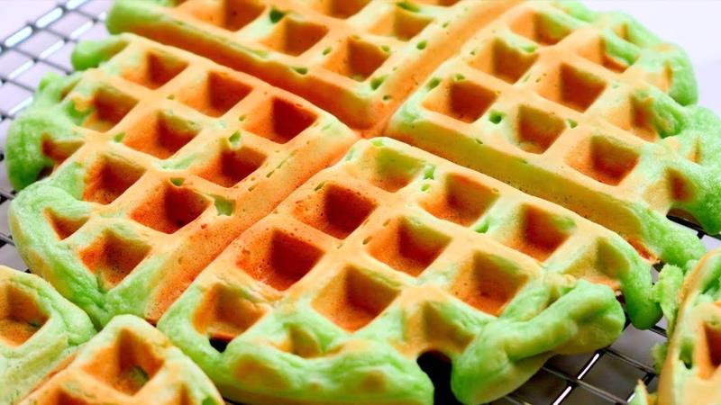 Bánh Kẹp Lá Dứa | Coconut Pandan Waffles Recipe | Cách làm Bánh Kẹp Lá Dứa | Homemade Waffles Recipe