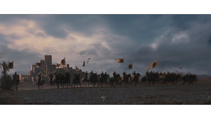 Конница Балиана против мусульманских всадников / Защита жителей Керака / Царство Небесное