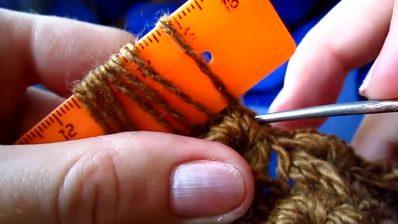 Шапочка, связанная на линейке (knitted cap on straightedge)