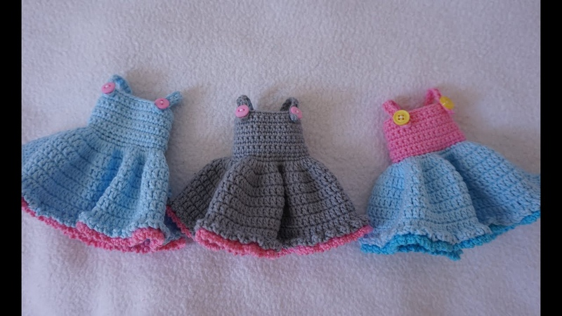 Blythe doll dresses crochet doll outfit