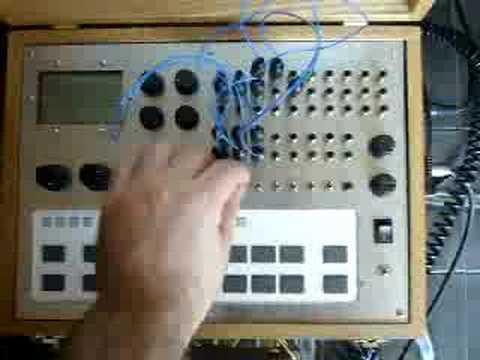 Circuit bent Roland TR-505 drum machine
