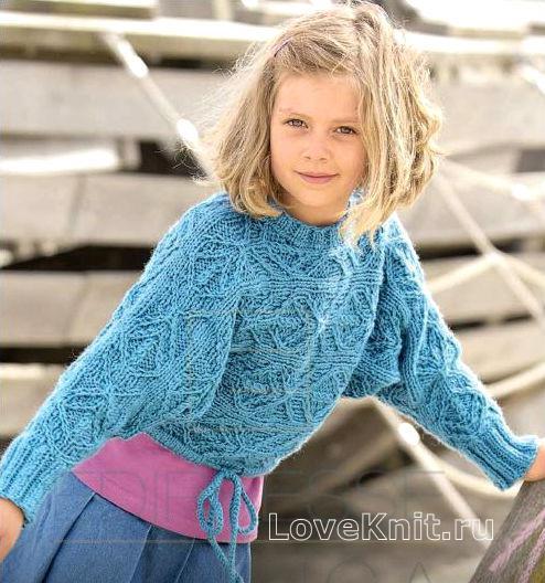 Укороченный детский джемпер на кулиске… (5 фото) - картинка