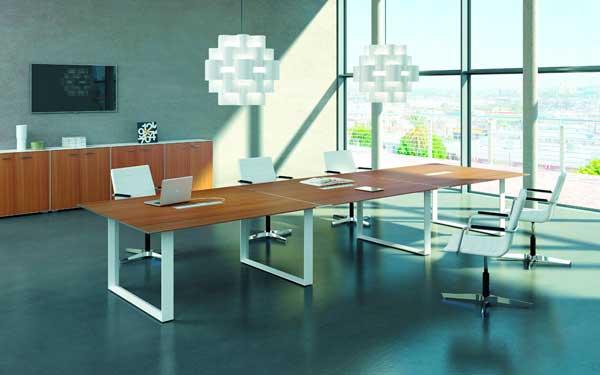 Теплое зимнее офисное освещение - современная офисная мебель