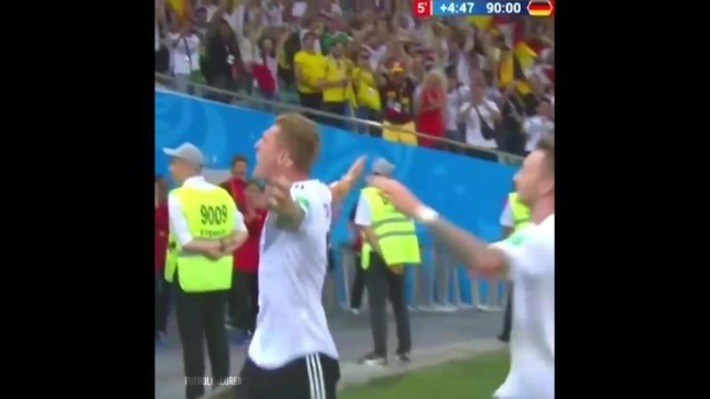 Супер Кроос! :-) Германия 2:1 Швеция 23.06.2018г. ЧМ-2018