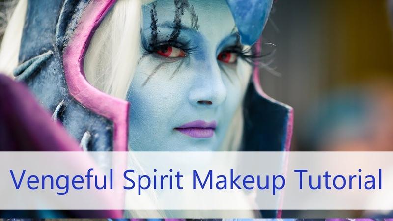 Vengeful Spirit Makeup Tutorial – Highlighting Contouring Facepaint