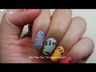 "Elris 엘리스 _""Pow Pow_"" MV Inspired Nail Art"