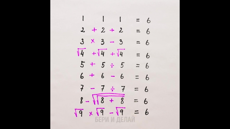 Лайфхаки математические.