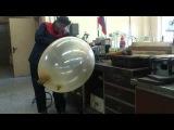 Надуваем резиновую перчатку | Inflate a rubber glove