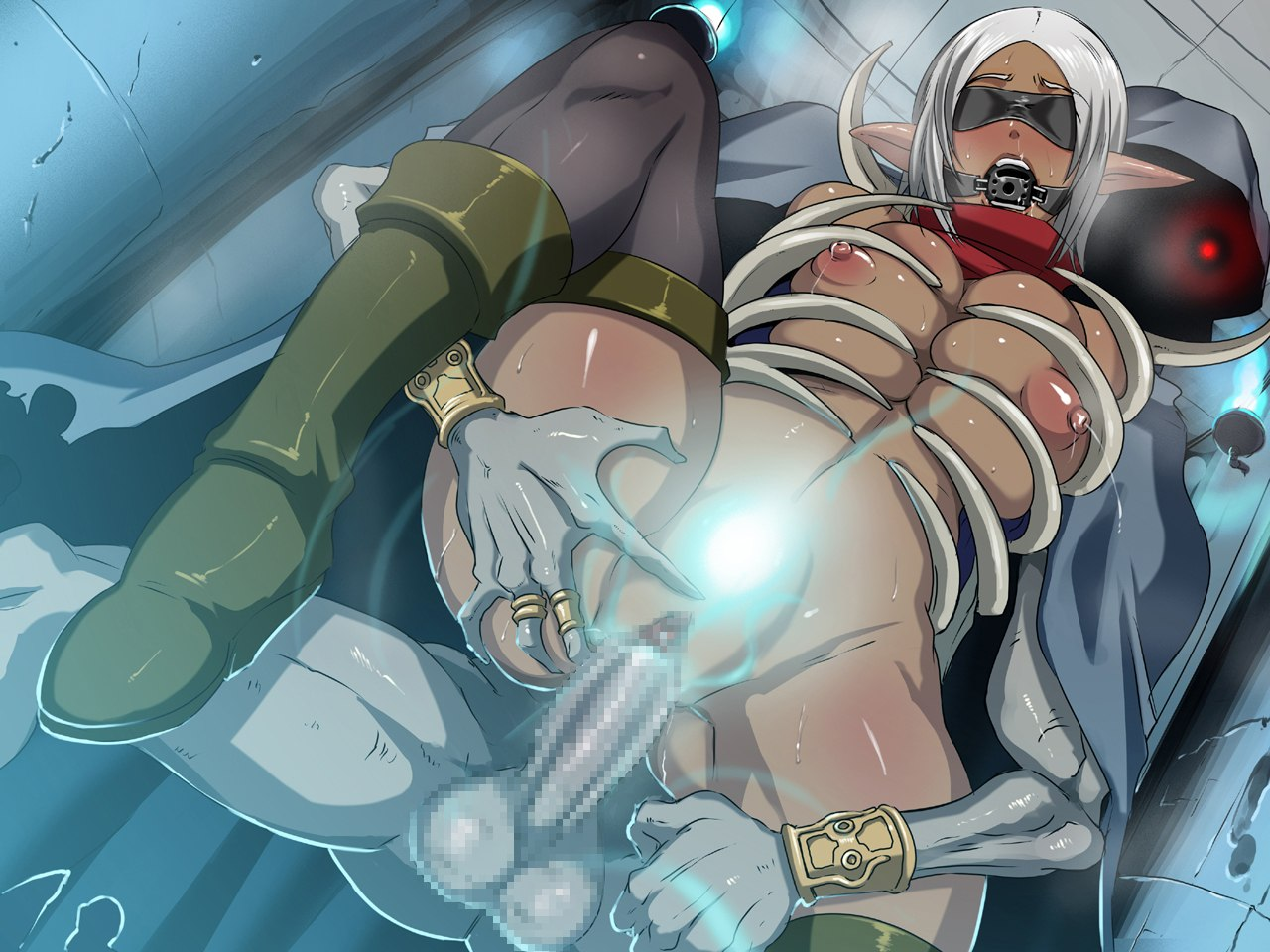 Hentai dark skin elf fucked by demon adult pic