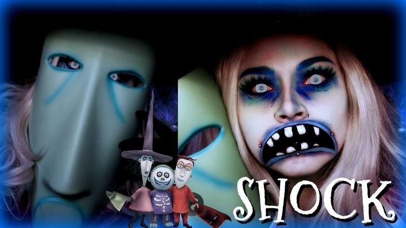 SHOCK from Lock, Shock and Barrel Trio TNBC Halloween Makeup Tutorial | Sydney Nicole