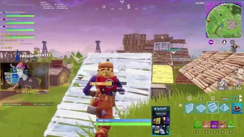 Божественная снайперская стрельба Fortnite Фортнайт Ninja