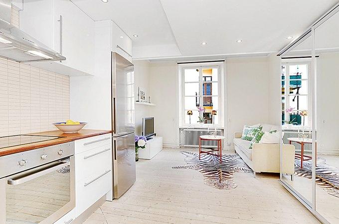 Двухуровневая квартира-студия 20 + 12 м в Стокгольме / Швеция - http://kvartirastudio.