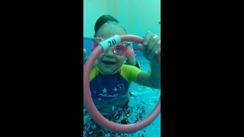 Подводное плавание Диана 5 лет, дцп
