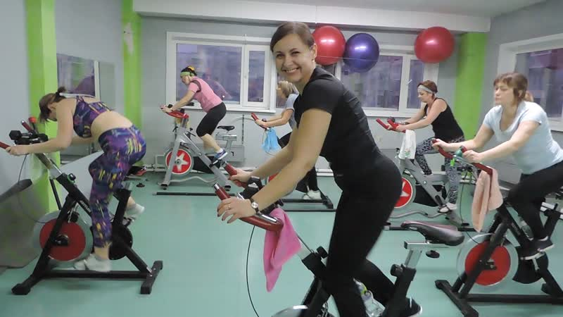 Сайкл тренировка упражнение sat-up 3 минуты )