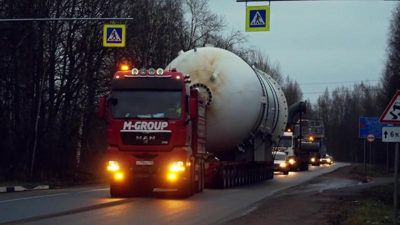 Перевозка адсорберов 240 тонн из Порта Усть-Луга в пос.