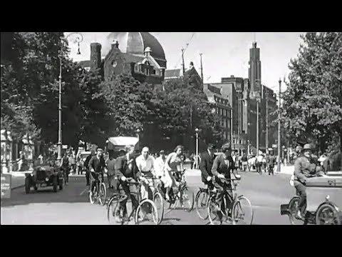 1930 Het Amsterdamse stadsverkeer in beeld - oude filmbeelden