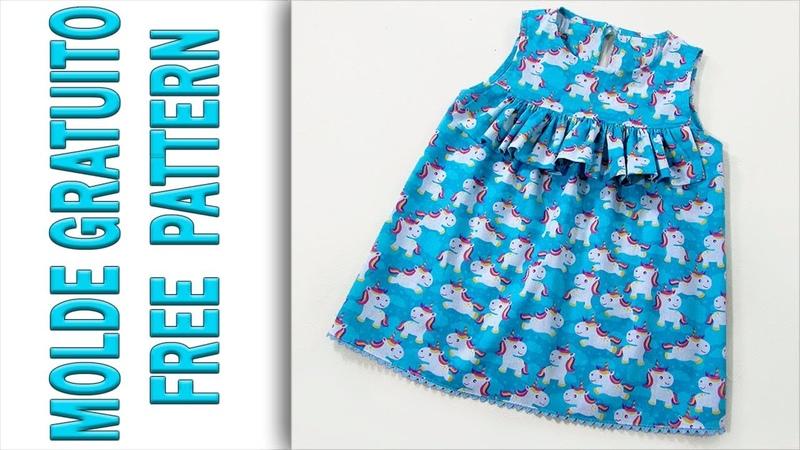 МК шьем платье с рюшей для девочки