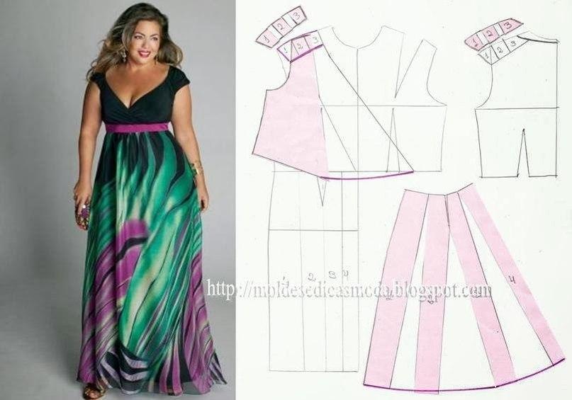 Красивые платья сшить самой для полных