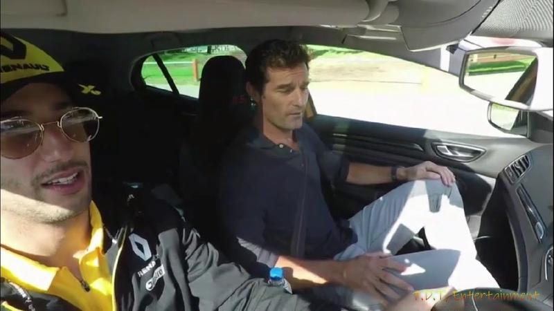 Mark Webber Interviews Daniel Riccardo after moving to Renault