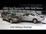 2001 Ford Taurus Vs. 2002 Ford Taurus IIHS Oblique Overlap Frontal Crash Test