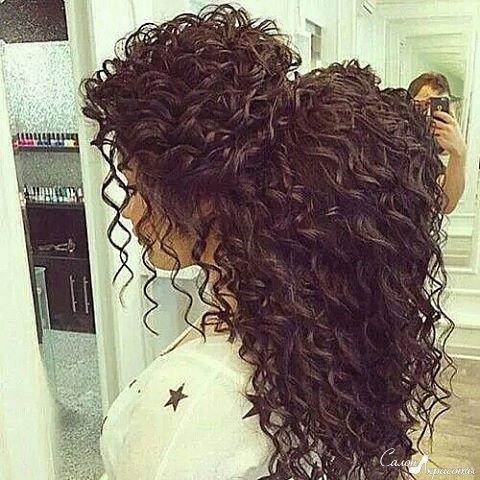 Мелкие кудри на длинные волосы в домашнем условиях