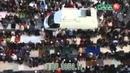800000 Мусульмане молятся в Moskau Берлин, Германия