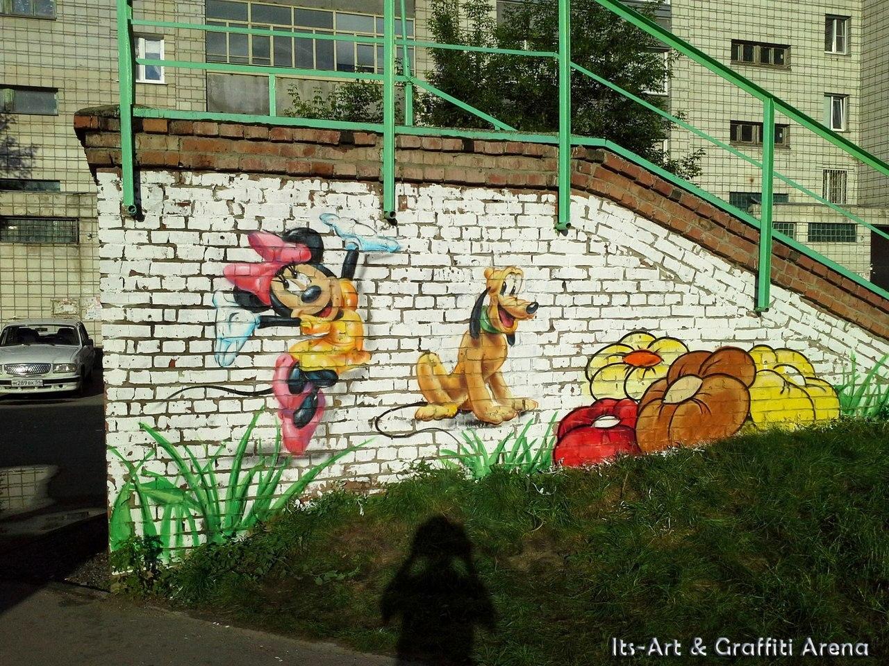 Оформление детской площадки  Its-Art & Graffiti Arena