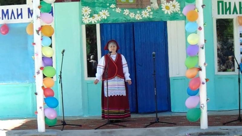 Мамочка моя поет на юбилее села Пилюгино