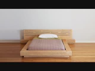 DIY Modern Plywood Platform Bed Part 1 _ Frame Nightstand Build - Woodworking
