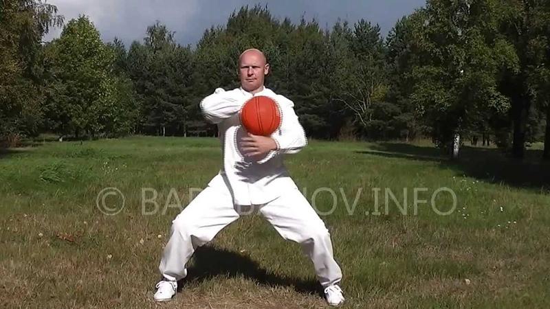 Андрей Барабанов. Упражнение №1.Вращение мяча сверху.