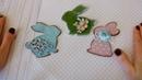 Пасхальные магниты кролики 3 варианта оформления пасхальный декор своими руками