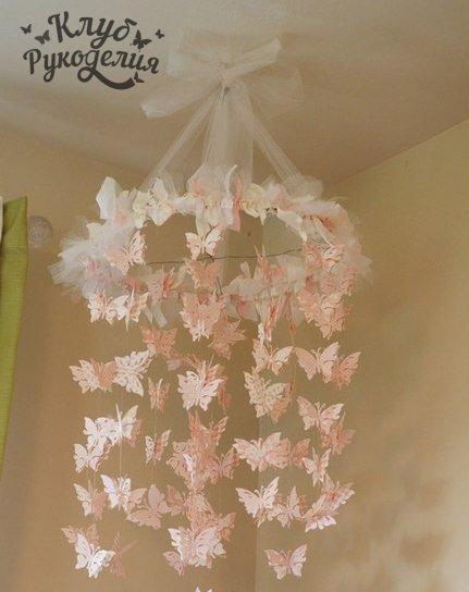 Мобиль с бабочками (6 фото) - картинка