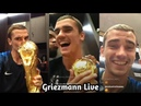 Antoine Griezmann Instagram Live After Win The World Cup 2018.