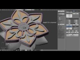 Jewelry design: Blue Flower modelling rendering
