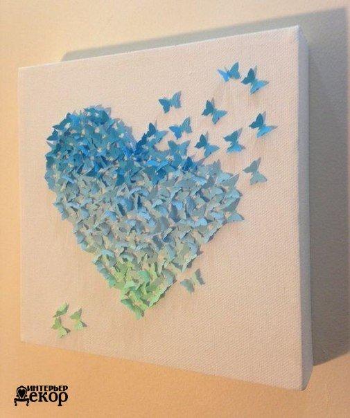 Картины своими руками из бабочек