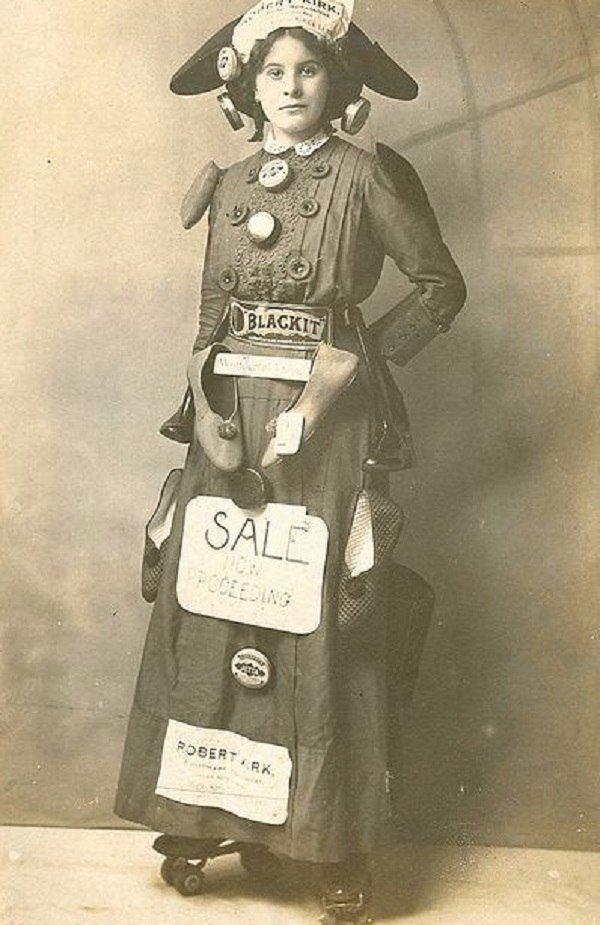 «Девушка-биллборд», 1890