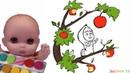 Куклы Пупсики раскрашивают раскраска из мультика Маша и Медведь. Coloring book. Зырики ТВ