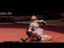 Slow motion college wrestling highlights takedown attempt backfires