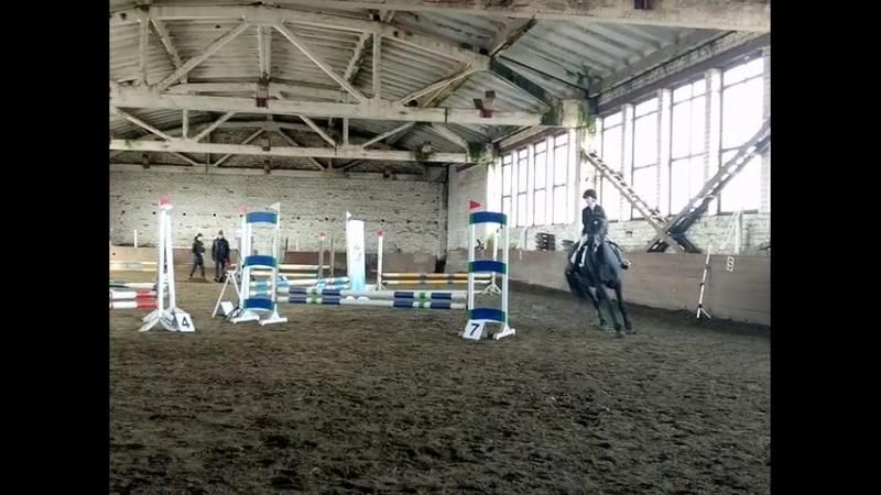Третьи соревнования.Лошадь Вилма. Маршрут до 70 см. 2-ое место
