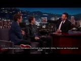 Роберт Дауни-младший и Том Холланд  на шоу Джимми Киммела. Часть 2