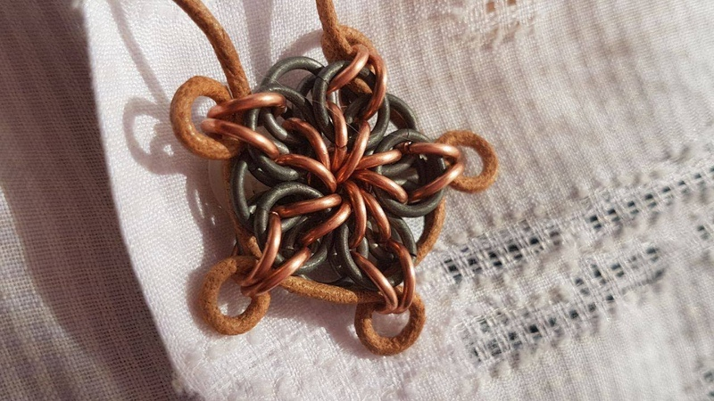 CELTIC STAR PENDANT CHAINMAILLE PATTERN CLEAREST TUTORIAL IN FULL HD