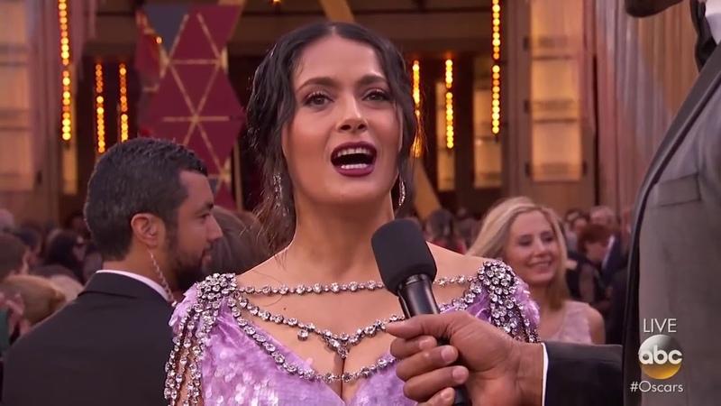 Сальма Хайек | Оскар | Oscars 2018 Red Carpet