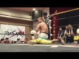 Fuminori Abe, Takumi Tsukamoto vs. Kyohei Kinoshita, Yuki Aoki (BASARA - Osaka Beer Garden Pro-Wrestling 2018)